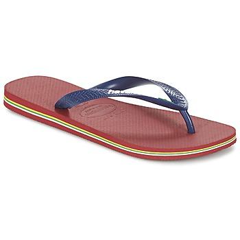Topánky Žabky Havaianas BRASIL LOGO Námornícka modrá / Červená