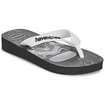 Topánky Chlapci Žabky Havaianas STAR WARS Čierna / Biela