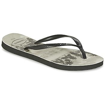 Topánky Ženy Žabky Havaianas SLIM PHOTOPRINT čierna / šedá