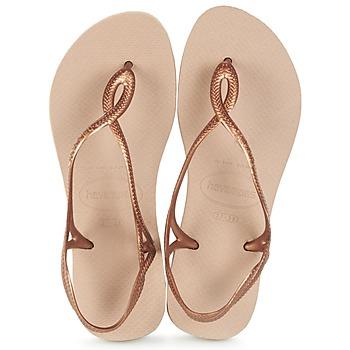 Topánky Ženy Žabky Havaianas LUNA Bronzová