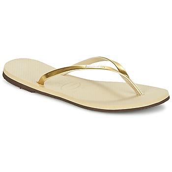 Topánky Ženy Žabky Havaianas YOU METALLIC Zlatá