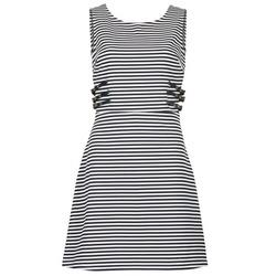 Oblečenie Ženy Krátke šaty Morgan RMARI Námornícka modrá / Krémová