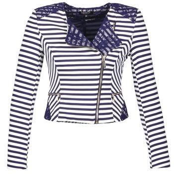 Oblečenie Ženy Saká a blejzre Morgan VMEL Námornícka modrá / Biela