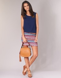 Oblečenie Ženy Krátke šaty Moony Mood EVELI Námornícka modrá