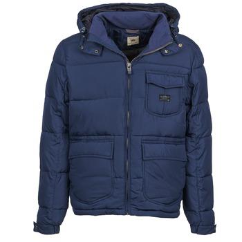 Oblečenie Muži Vyteplené bundy Lee LOCO PUFFA Námornícka modrá