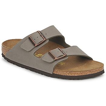 Topánky Šľapky Birkenstock ARIZONA šedá kamenná