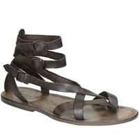 Topánky Ženy Sandále Gianluca - L'artigiano Del Cuoio 564 U FANGO CUOIO Fango