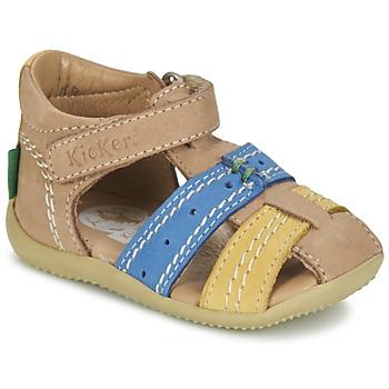 Topánky Chlapci Sandále Kickers BIGBAZAR Béžová / Modrá / Žltá