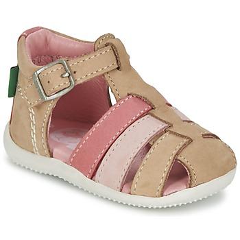 Topánky Dievčatá Sandále Kickers BIGFLY Béžová / Ružová