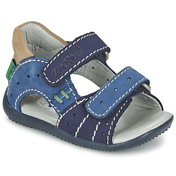 Topánky Chlapci Sandále Kickers BOPING Námornícka modrá