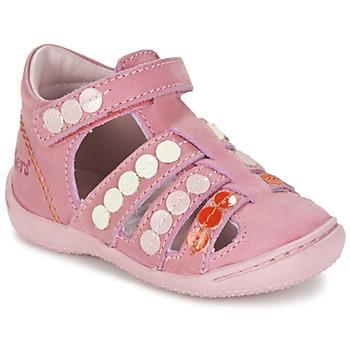 Topánky Dievčatá Sandále Kickers GIFT Ružová
