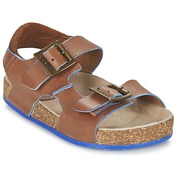 Topánky Chlapci Sandále Kickers NANTI Hnedá