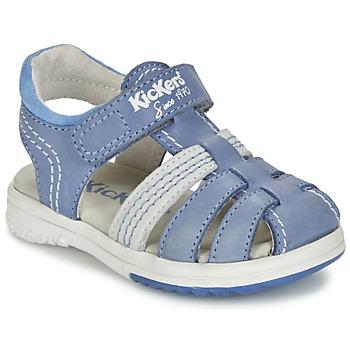 Topánky Chlapci Sandále Kickers PLATINIUM Modrá