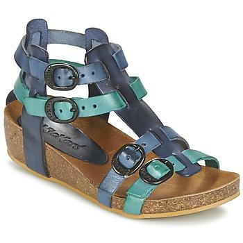 Topánky Dievčatá Sandále Kickers BOMDIA Modrá