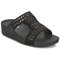 Topánky Ženy Šľapky FitFlop CARMEL SLIDE čierna