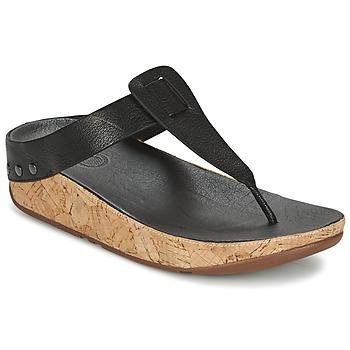Topánky Ženy Žabky FitFlop IBIZA CORK Čierna