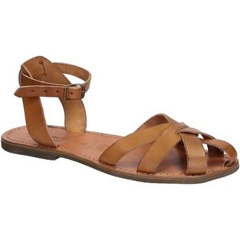 Topánky Ženy Sandále Gianluca - L'artigiano Del Cuoio 503 D CUOIO GOMMA Cuoio