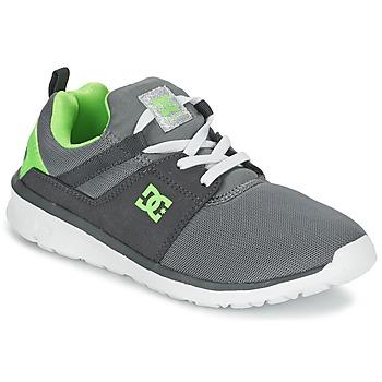 Topánky Chlapci Nízke tenisky DC Shoes HEATHROW Šedá / Biela / Zelená