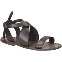 Topánky Ženy Sandále Gianluca - L'artigiano Del Cuoio 570 D FANGO CUOIO Fango