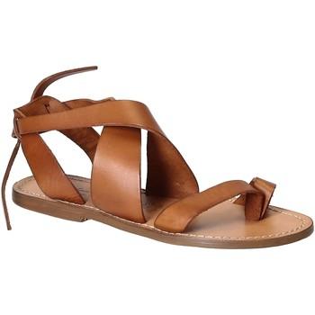 Topánky Ženy Sandále Gianluca - L'artigiano Del Cuoio 571 D CUOIO CUOIO Cuoio