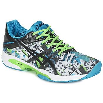 Topánky Muži Tenisová obuv Asics GEL-SOLUTION SPEED 3 L.E. NYC Biela / Čierna / Modrá