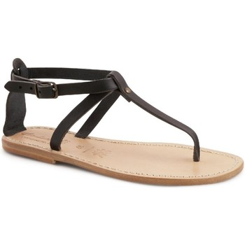 Topánky Ženy Sandále Gianluca - L'artigiano Del Cuoio 582 D NERO LGT-CUOIO nero