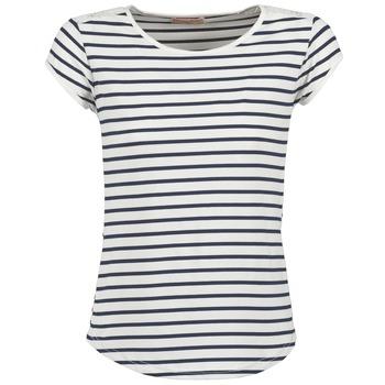 Oblečenie Ženy Tričká s krátkym rukávom Moony Mood EIYA Biela / Modrá