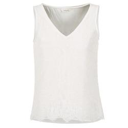 Oblečenie Ženy Tielka a tričká bez rukávov Naf Naf LADALIA Krémová