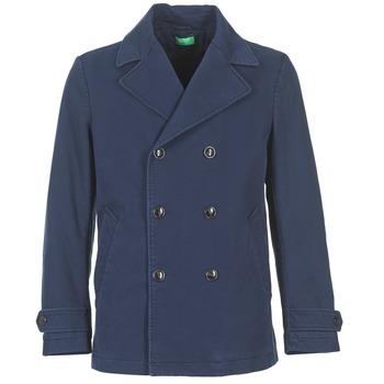Oblečenie Muži Kabáty Benetton FIMARA Námornícka modrá