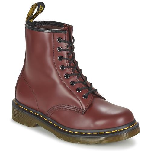 Topánky Polokozačky Dr Martens 1460 Červená višňová