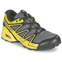 Topánky Muži Bežecká a trailová obuv Salomon SPEEDCROSS VARIO GTX® šedá / Zelená / žltá