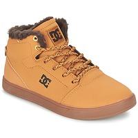 Topánky Deti Členkové tenisky DC Shoes CRISIS HIGH WNT B SHOE WD4 žltá obilná / čokoládová