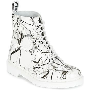 Topánky Ženy Polokozačky Dr Martens PASCAL MRBL Biela / Mramorová