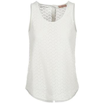 Oblečenie Ženy Tielka a tričká bez rukávov Moony Mood IGUOHIAVINE Biela