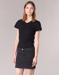 Oblečenie Ženy Tričká s krátkym rukávom BOTD EFLOMU Čierna