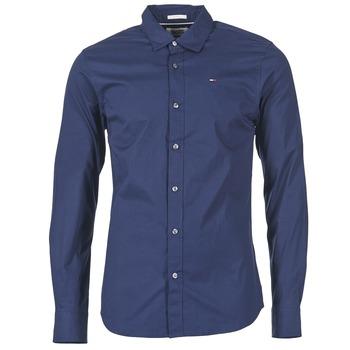 Oblečenie Muži Košele s dlhým rukávom Tommy Jeans KANTERMI Námornícka modrá