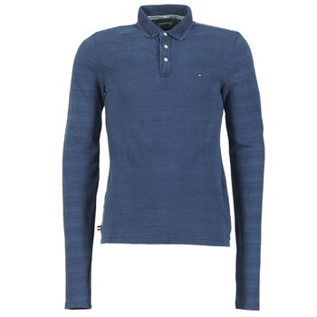 Oblečenie Muži Polokošele s dlhým rukávom Tommy Jeans KORIKO Modrá