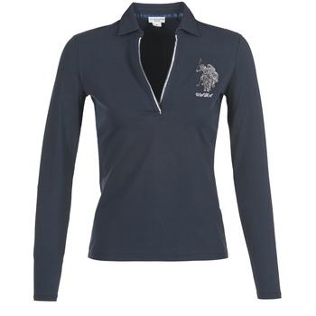 Oblečenie Ženy Polokošele s dlhým rukávom U.S Polo Assn. CRISTINE Námornícka modrá