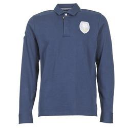 Oblečenie Muži Polokošele s dlhým rukávom Serge Blanco ECUSSON COQ Námornícka modrá