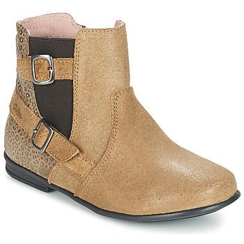 Topánky Dievčatá Polokozačky Aster DESIA Béžová