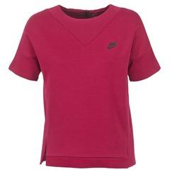 Oblečenie Ženy Mikiny Nike TECH FLEECE CREW Bordová