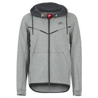 Oblečenie Muži Bundy  Nike TECH FLEECE WINDRUNNER HOODIE šedá