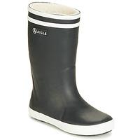 Topánky Deti Čižmy do dažďa Aigle LOLLY POP FUR čierna