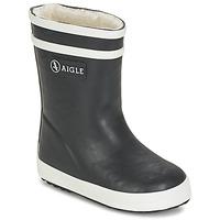 Topánky Deti Čižmy do dažďa Aigle BABY FLAC FUR Námornícka modrá