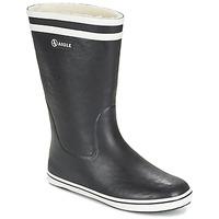Topánky Ženy Čižmy do dažďa Aigle MALOUINE FUR čierna
