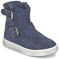 Topánky Dievčatá Polokozačky Acebo's MOULLY Modrá