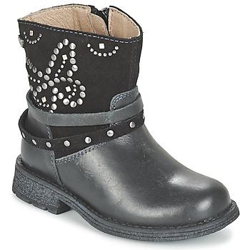 Topánky Dievčatá Polokozačky Garvalin GENILA Čierna