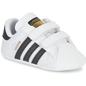 Topánky Chlapci Nízke tenisky adidas Originals SUPERSTAR CRIB Biela