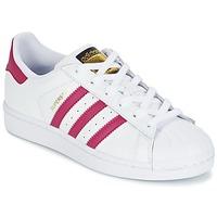 Topánky Dievčatá Nízke tenisky adidas Originals SUPERSTAR FOUNDATIO Biela