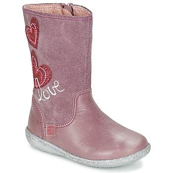 Topánky Dievčatá Čižmy do mesta Agatha Ruiz de la Prada BIGI Ružová